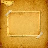 Old vintage album with paper frames. For photos Stock Image