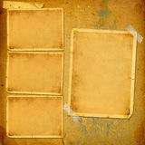 Old vintage album with paper frames for photos Stock Photography