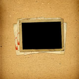 Old vintage album with paper frames. For photos royalty free stock images