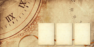 Old vintage album with paper postcards Royalty Free Stock Image