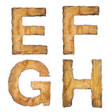 Old, vintage alphabet EFGH Royalty Free Stock Photos