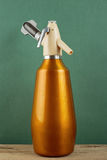 Old vintage aluminum siphon Stock Image