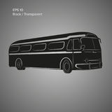 Old vintage american bus vector illustration. Retro passenger vehicle. Old vintage american bus vector illustration Royalty Free Stock Photo