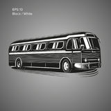 Old vintage american bus vector illustration. Retro passenger vehicle. Old vintage american bus vector illustration Stock Photos