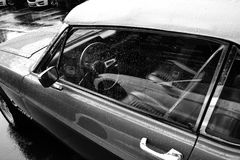 Old vintage american car. Old vintage american muscle car royalty free stock photos