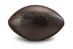 Old Vintage American Football. On White background with drop shadow Royalty Free Stock Photography