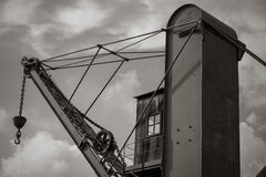 Old vintage ancient crane. Stock Images