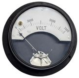 Old vintage ancient voltmeter Stock Photography