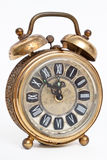 Old vintage antique alarm clock isolated Royalty Free Stock Photography