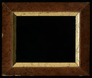 Old, vintage, antique frame on black background royalty free stock image