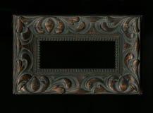 Old, vintage, antique frame  on black background Stock Image