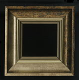 Old, vintage, antique frame isolated on black background stock images