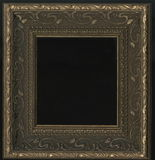 Old, vintage, antique frame isolated on black background stock photo