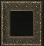 Old, vintage, antique frame isolated on black background Stock Photo