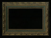 Old, vintage, antique frame isolated on black background Royalty Free Stock Image
