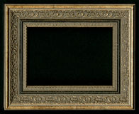 Old, vintage, antique frame isolated on black background Stock Image