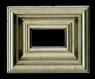 Old, vintage, antique frame isolated on black background Royalty Free Stock Photography