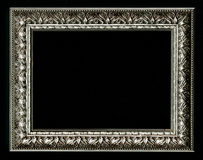 Old, vintage, antique frame isolated on black background Stock Photos