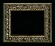 Old, vintage, antique frame isolated on black background Royalty Free Stock Photos