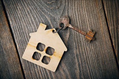 Old vintage apartment key Royalty Free Stock Photos