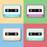 Old vintage audio tapes icon Stock Images