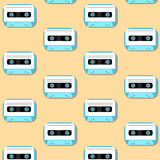 Old vintage audio tapes icon Stock Photos