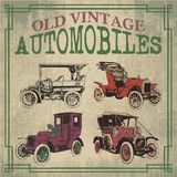 Old vintage automobiles. In vector design Royalty Free Stock Photos