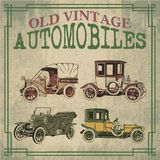 Old vintage automobiles. In vector design Royalty Free Stock Photo