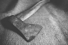 Old vintage axe hand tools Stock Image