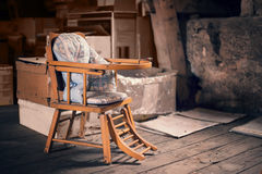 Old vintage baby chair Stock Image
