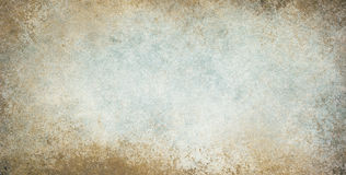 Old vintage background with grunge border texture and brown blue and white colors Royalty Free Stock Image