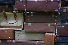 Old vintage bag suitcases Stock Photo