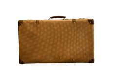 Old vintage bag suitcases Stock Photos