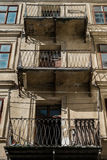 Old vintage balcony on the building of 18 century. London architecture Stock Image