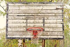 Old vintage basketball hoop Stock Photos