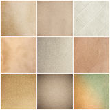 Old Vintage Beige Papers Texture Set Background Royalty Free Stock Images