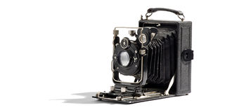 Old vintage bellows camera Royalty Free Stock Photo