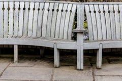 Old vintage bench in garden Stock Photos