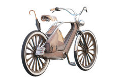 Old vintage bicycle. Steampunk style. On a white background. 3d render Stock Photo