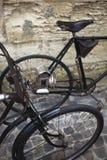 Old vintage bikes stock image