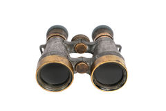 Old vintage binoculars. Оld vintage binoculars isolated on white Stock Photos