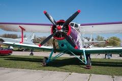 Old vintage biplane Royalty Free Stock Images