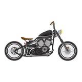 Old vintage black bobber bike. cafe racer theme.  Stock Images
