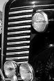 The old vintage black car Stock Images