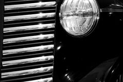 The old vintage black car Stock Photography