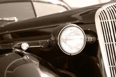 The old vintage black car Stock Photos