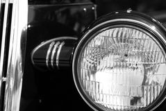 The old vintage black car Royalty Free Stock Photos