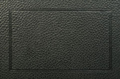 Old vintage black leather background Royalty Free Stock Photography