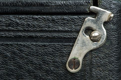 Old vintage black leather background Royalty Free Stock Photo