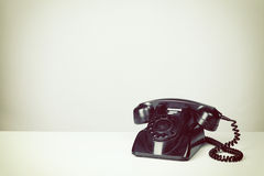 Old Vintage Black Telephone Royalty Free Stock Images